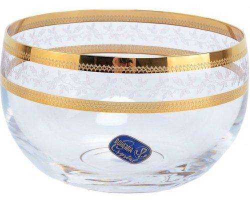 Конфетница 12 см Золотой Лист V-D Богемия Кристал (Bohemia Crystal)