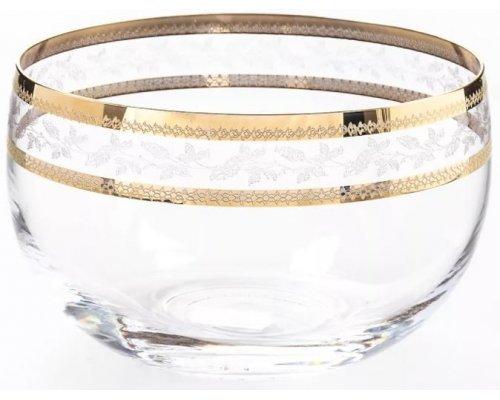 Набор салатников 12 см Золотой Лист V-D Bohemia Crystal