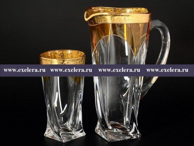 Набор для воды 7 предметов Quadro E-S Богемия Кристал (Bohemia Crystal)
