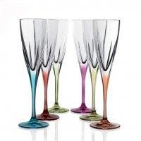 Набор фужеров для шампанского RCR Fusion цветные 170мл (6 шт)