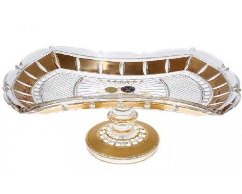 Фруктовница 33 см Crystal Heart золотые окошки 35024