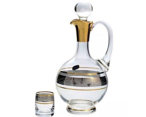 Набор для водки штоф и рюмки Идеал Панто V-D Bohemia Crystal 7 предметов