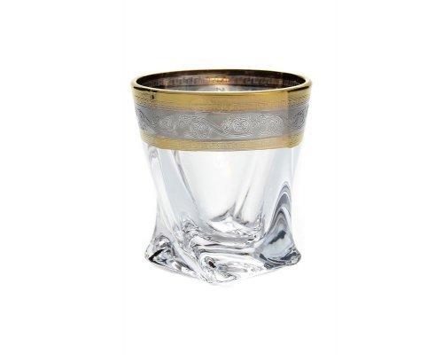 Набор стопок для водки 55 мл Quadro серебро