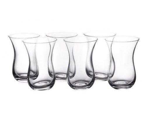 Набор турецких стаканов для чая Crystalite Bohemia Morus Армуд 130 мл (6 шт)