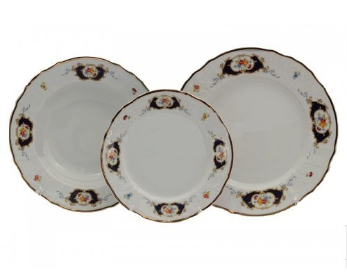 Набор тарелок 18 предметов Бернадотт Синий глаз