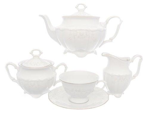 Чайный сервиз Свадебный узор Repast классическая чашка на 6 персон 15 предметов