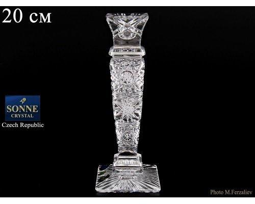 Подсвечник 20 см Sonne Crystal