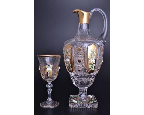 Набор для ликера 4 предмета B-P золото Аурум Кристалл (Aurum Crystal)