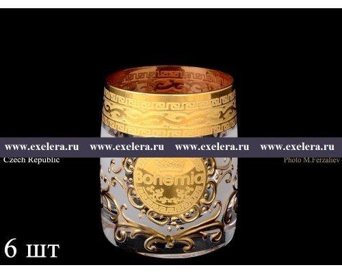 Набор стопок для водки Версачи Богемия B-G фон Богемия Кристал (Bohemia Crystal)