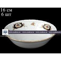 Набор салатников 16 см Лиана Синий глаз Старорольский Фарфор (MZ) (6 шт)