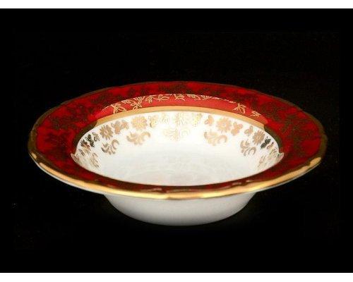 Набор розеток 11 см Мария Луиза Кленовый лист Красный Карлсбад (Carlsbad) (6 шт)