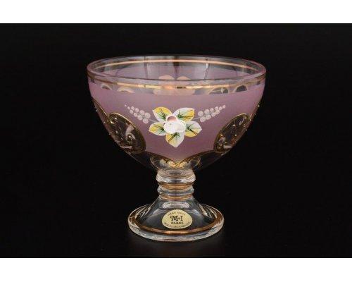 Варенница 13 см U-R фон Богемия Кристал (Bohemia Crystal) розовая