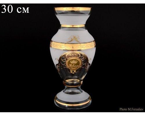 Ваза 30 см Версаче Богемия А-М Богемия Кристал (Bohemia Crystal)