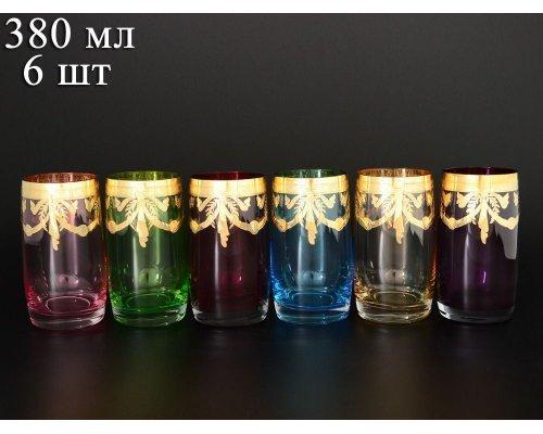 Набор стаканов для воды 380 мл Идеал Арлекино Богемия Кристал (Bohemia Crystal) (6 шт)