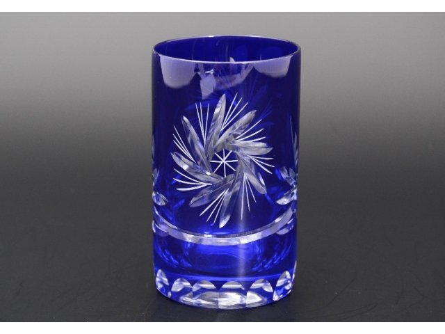 Набор стаканов для воды 150 мл Идеал Мирел Bohemia (Богемия) синий (6 шт)