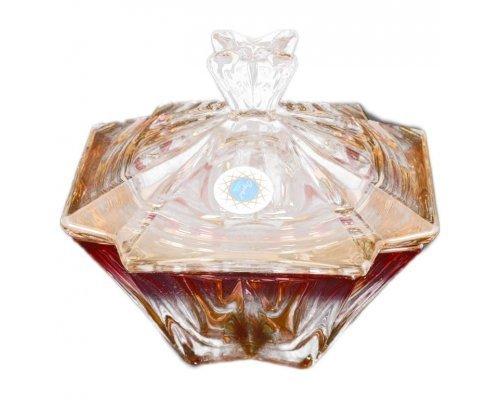 Конфетница розовая с крышкой 15 см METROPOLITAN R-G