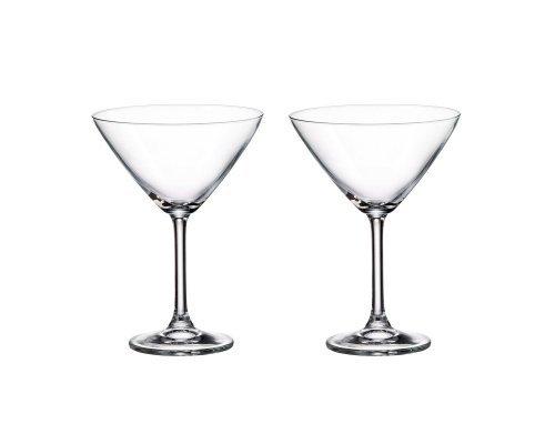 Набор бокалов для мартини Crystalite Bohemia Sylvia/Klara 280 мл (2 шт)