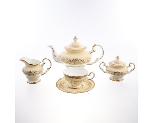 Чайный сервиз Кремовый Royal Classics на 6 персон 15 предметов
