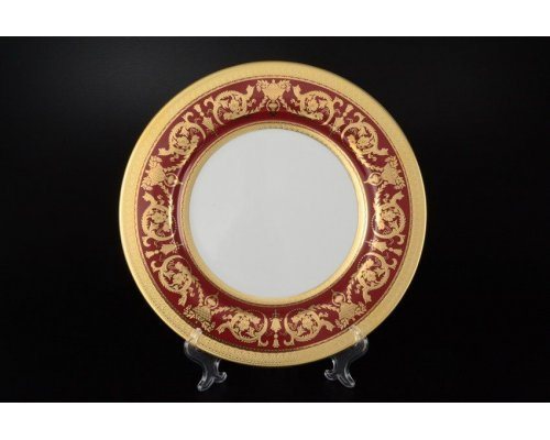 Набор тарелок 27 см Falkenporzellan Imperial Bordeaux Gold (6 шт)