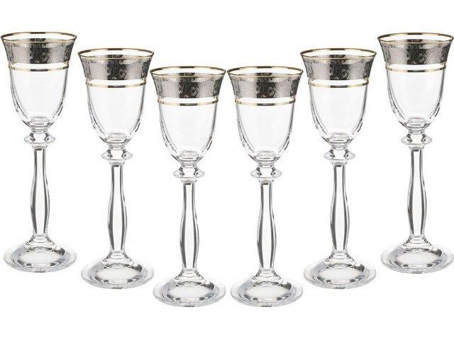 Набор рюмок для водки 60 мл Анжела Панто Богемия Кристал (Bohemia Crystal) (6 шт)