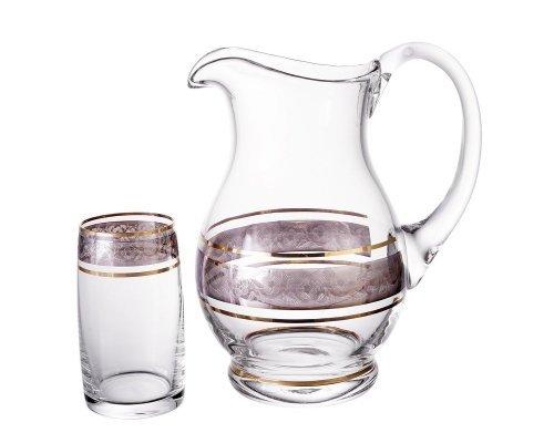 Набор для воды с высокими стаканами 7 предметов Идеал Панто V-D Bohemia Crystal