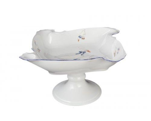 Салатник фигурный квадратный 24 см на ножке Гуси Корона Queens Crown