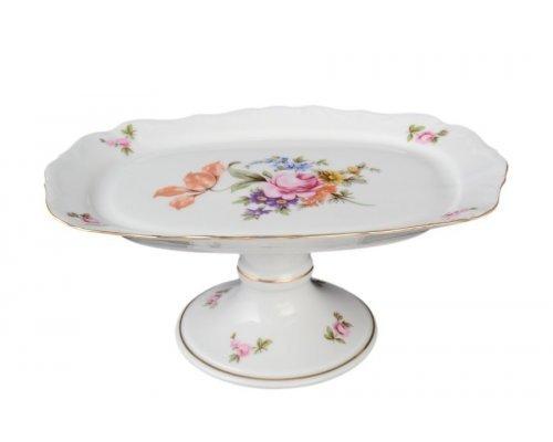 Блюдо прямоугольное 21 см на ножке Полевой цветок Корона Queens Crown