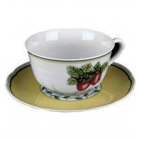 "Набор для чая на 6 персон 12 предметов низ Thun ""Роза 30200"""