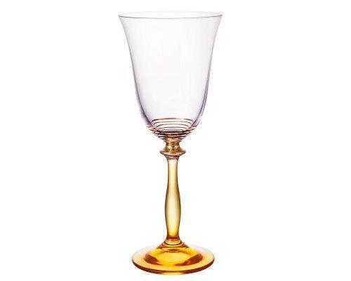 Набор бокалов для вина 250 мл Bohemia Crystal золотые полосы