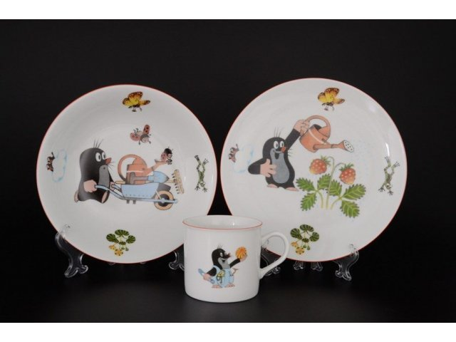 Детский набор посуды Крот с тачкой Thun 3 предмета