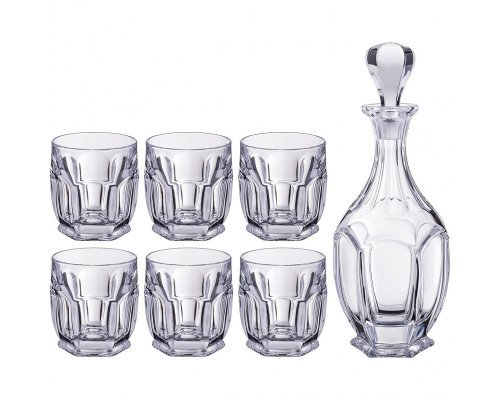 Набор для виски 7 предметов Сафари Crystalite Bohemia
