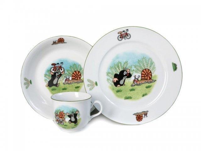 Детский набор фарфоровой посуды Крот и улитка Thun 3 предмета
