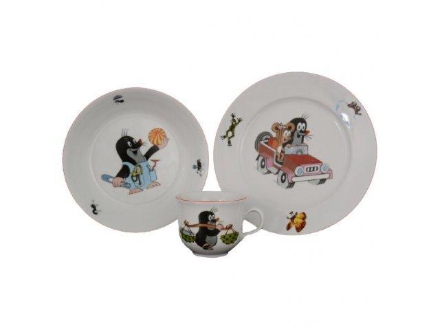 Детский набор посуды Крот и машинка Thun 3 предмета