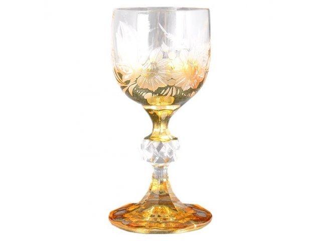 Набор рюмок для водки 60 мл Богемия Кристал (Bohemia Crystal) Золото E-S (6 шт)