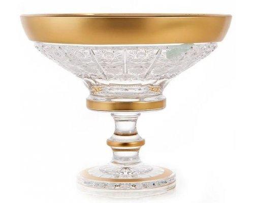 Конфетница 15 см Max Crystal Золото Bohemia (Богемия)