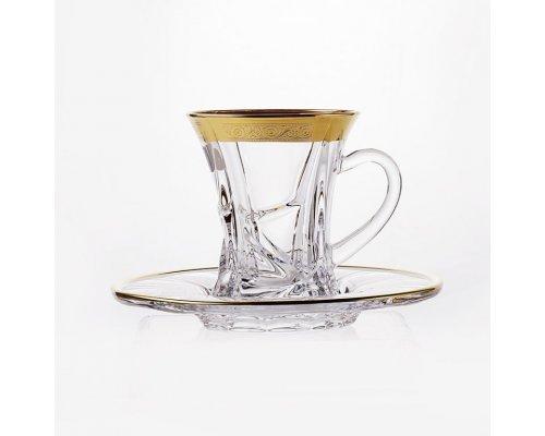 "Набор чайный Bohemia Crystal на 6 персон 12 предметов. ""Кристалайт - 430469"""