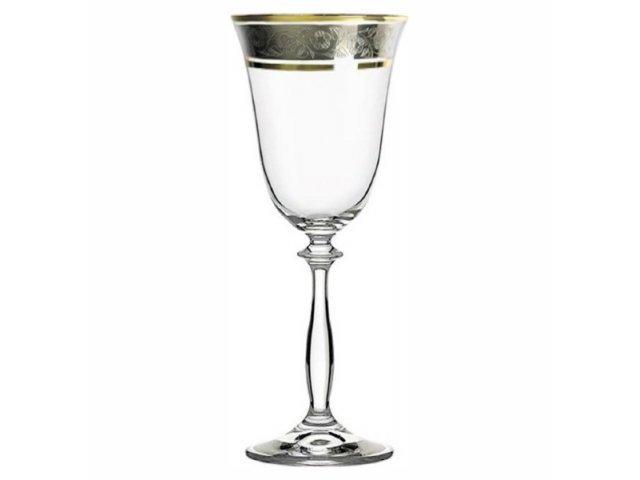 Набор бокалов для вина 185 мл Анжела Панто Богемия Кристал (Bohemia Crystal) (6 шт)