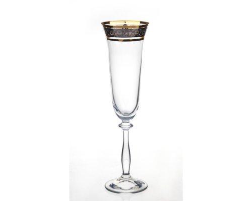 Набор фужеров для шампанского 190 мл Анжела Панто Богемия Кристал (Bohemia Crystal) (6 шт)