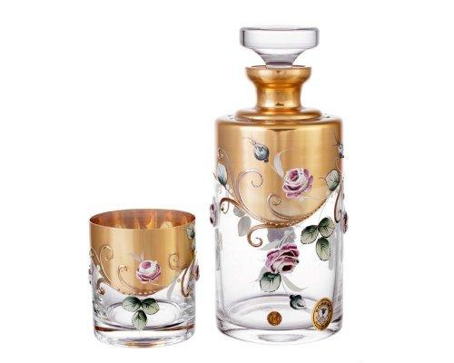 Набор для виски Bohemia Алые розы 7 предметов