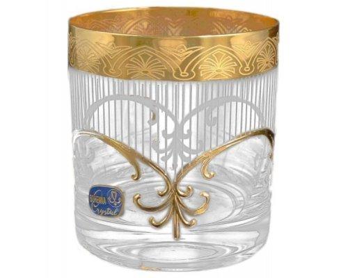 Набор стаканов для виски 280 мл 6 шт Krapnik Богемия Кристал (Bohemia Crystal)