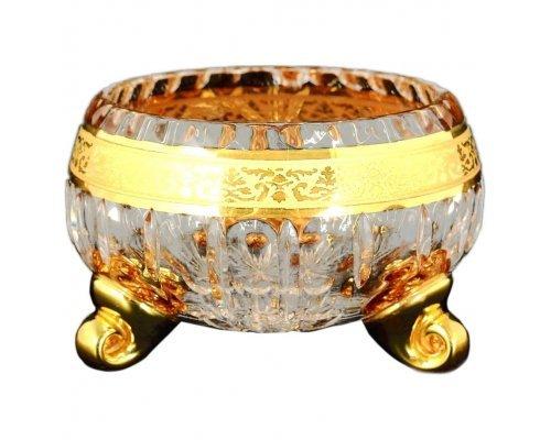 Ваза для конфет тройножка 11 см Max Crystal Золото Bohemia