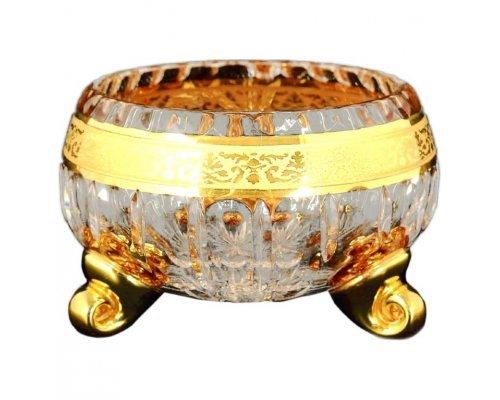 Ваза для конфет тройножка 13 см Max Crystal Золото Bohemia (Богемия)