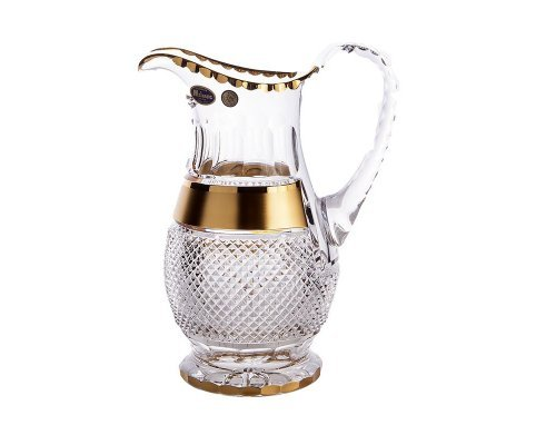 Графин 1,3 л Фелиция Max Crystal Золото Bohemia (Богемия)