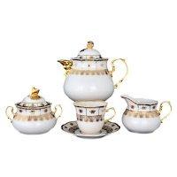 Чайный сервиз на 6 персон 17 предметов Тхун (Thun) Менуэт Натали