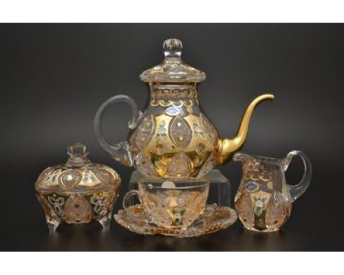 Чайный сервиз на 6 персон 17 предметов Яхами (Jahami) Золото