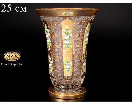 Ваза 25 см Max Crystal Золото Bohemia (Богемия)