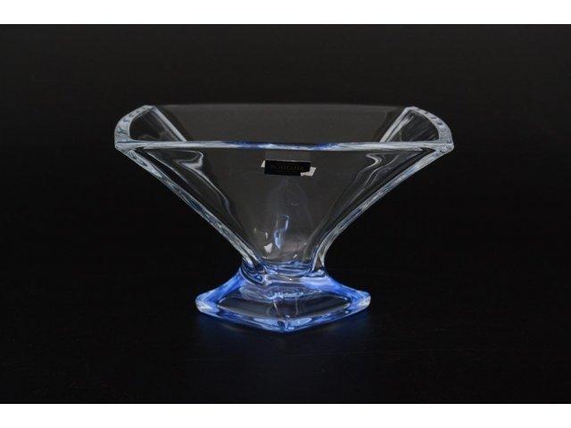 Конфетница 22 см Quadro Богемия Кристал (Bohemia Crystal) синяя
