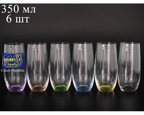 Набор стаканов для воды 350 мл Арлекино Богемия Кристал (Bohemia Crystal) (6 шт)