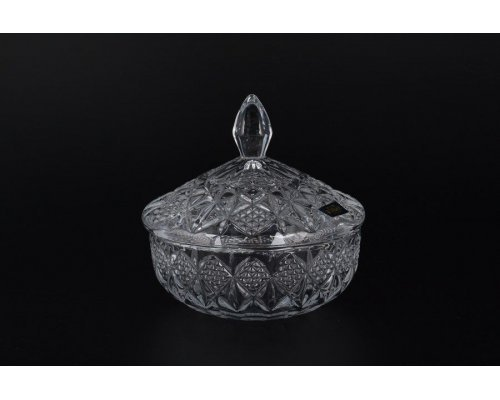 Конфетница с крышкой 15 см SIRIUS-NOVA Кристалайт (Kristalayt)