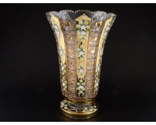 Ваза 35 см Max Crystal Золото Bohemia (Богемия)